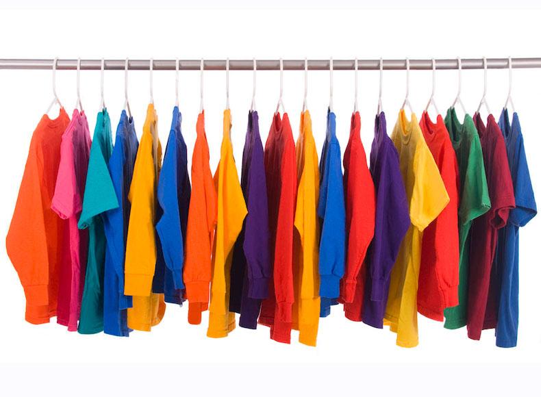 hanging tshirts
